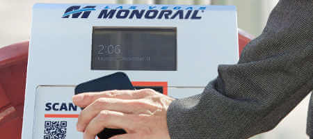 Monorail Ticket Scan and Go